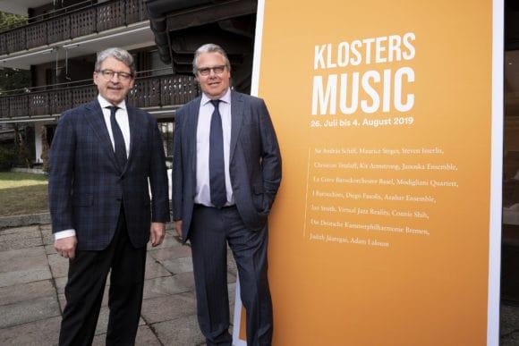 Rolf Theiler, Präsident (r) und Heinz Brand, Vizepräsident (l)_ © Yanik Bürkli_Klosters Music