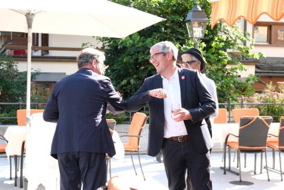 Stiftungsratspräsident Heinz Brand und Regierungsrat Jon Domenic Parolini © Marcel Giger