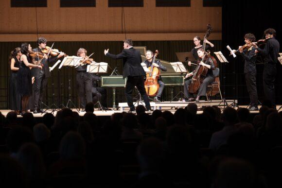 Das Orchester «Il pomo d'oro» unter der Leitung von Maurice Steger © Marcel Giger