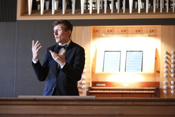Benjamin Righetti beim Orgel-Rezital © Marcel Giger